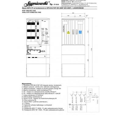 Złącze SKP3-1P w obudowie OPS 68.2/1DF IZO (48DF IZO+28DF)