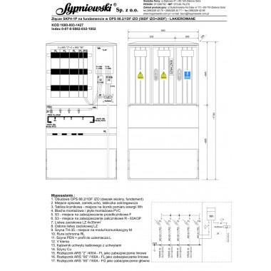 Złącze SKP4-1P w obudowie OPS 88.2/1DF IZO (58DF IZO+28DF)
