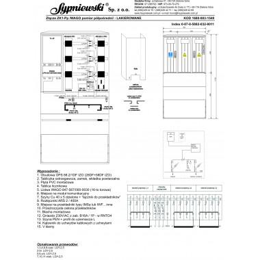 Złącze ZK1-Pp w obudowie OPS 88.2/1DF IZO (28DF+58DF IZO)